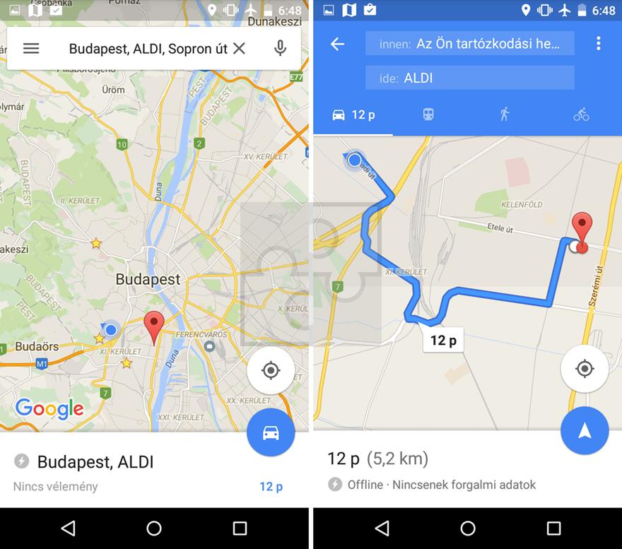 offline térkép Offline navigáció a Google Maps ben | Navigálj Gyurcival! offline térkép