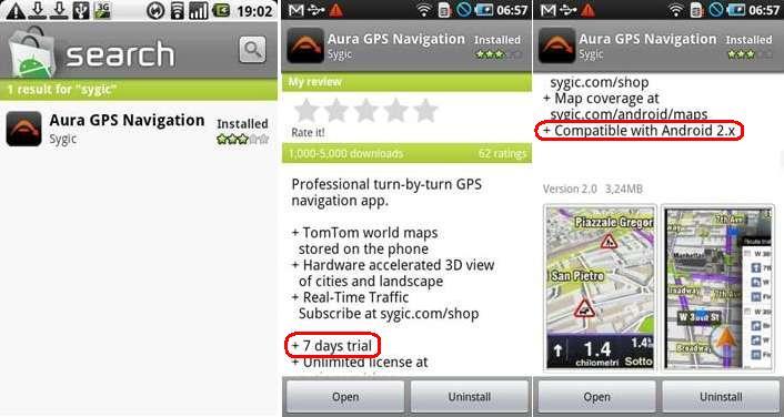 Sygic Aura For Android Telepitsd Fel Navigalj Gyurcival
